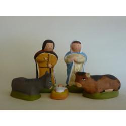 Nativité naÏve 5 sujets 9cm