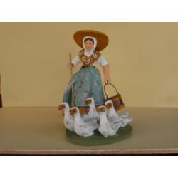 Femme au thon Santon 11 cm